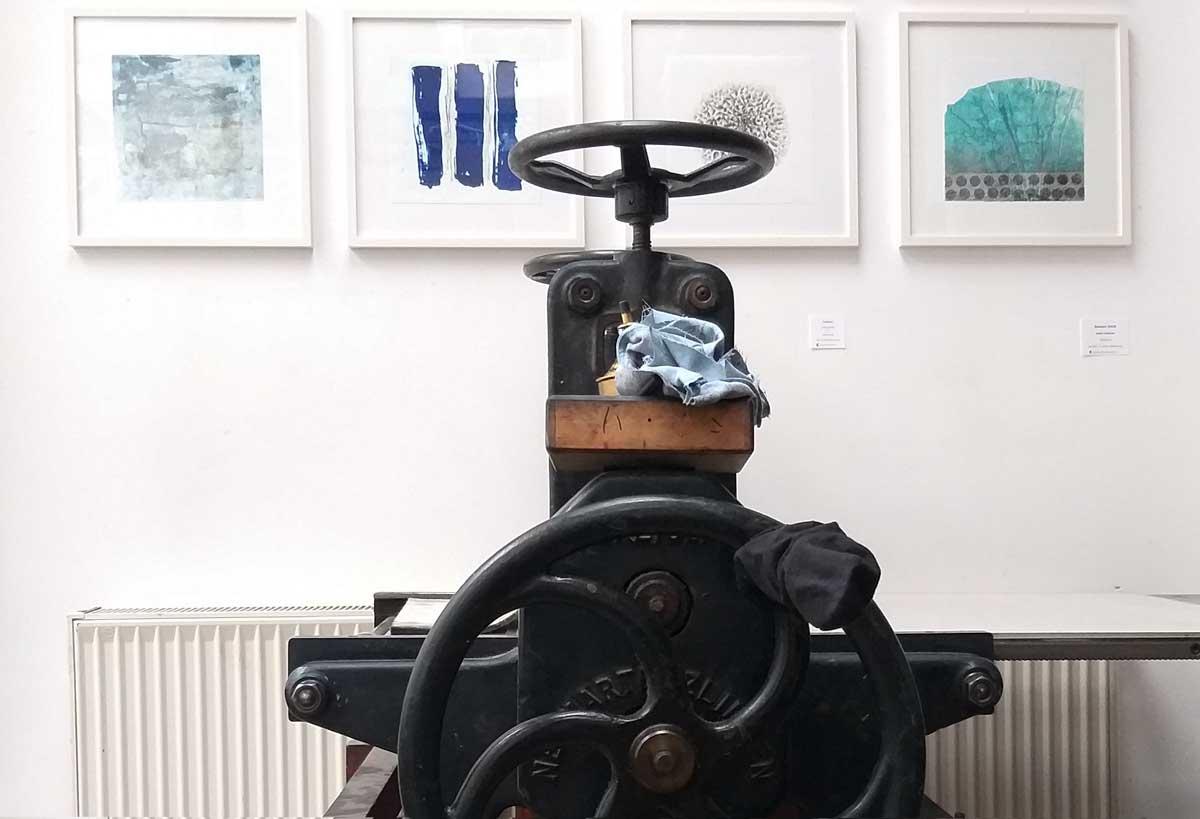 die alte Tiefdruckpresse in der Kölner Graphikwerkstatt