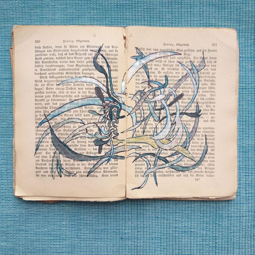 Die Seiten 210 - 211 aus Irvings Skizzenbuch