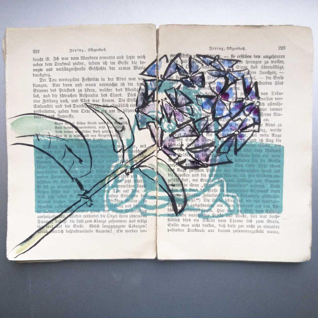 Die Seiten 222 - 223 aus dem bearbeiteten Skizzenbuch von Irving