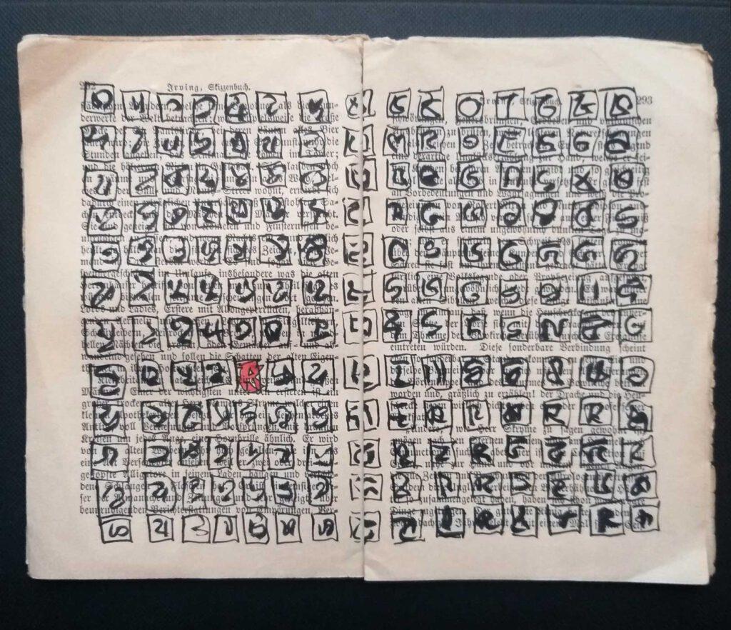 Eine überarbeitete Seite aus dem Skizzenbuch von Irving  - Das Besondere und die Masse